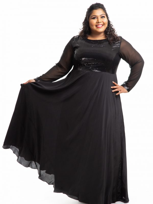 Plus Size Dress - Black