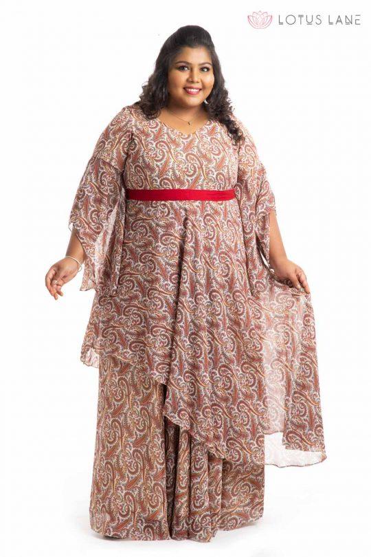Plus Size Dress - Beige