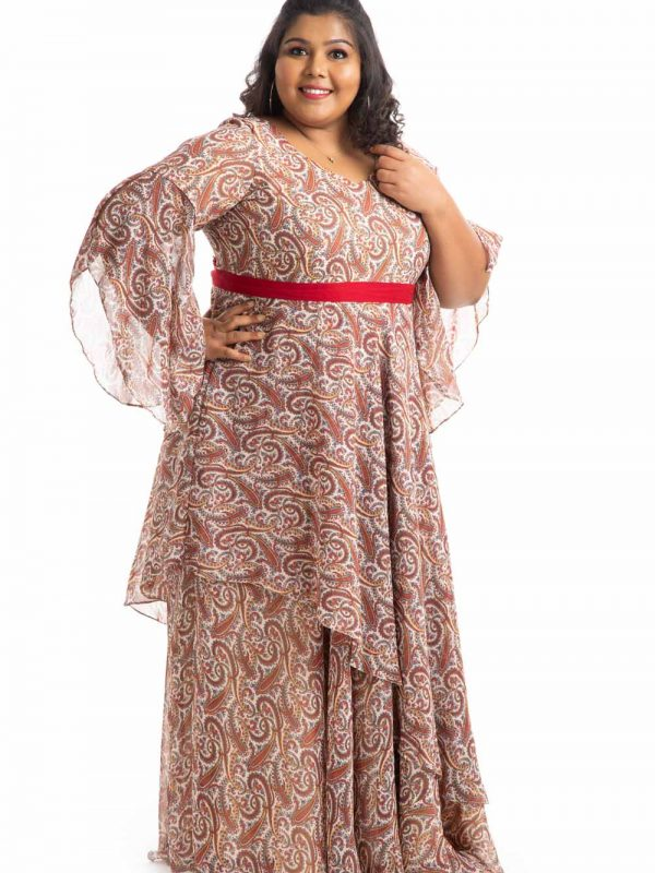 Plus Size Dress - Beige