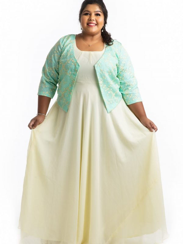 Plus Size Dress -Yellow