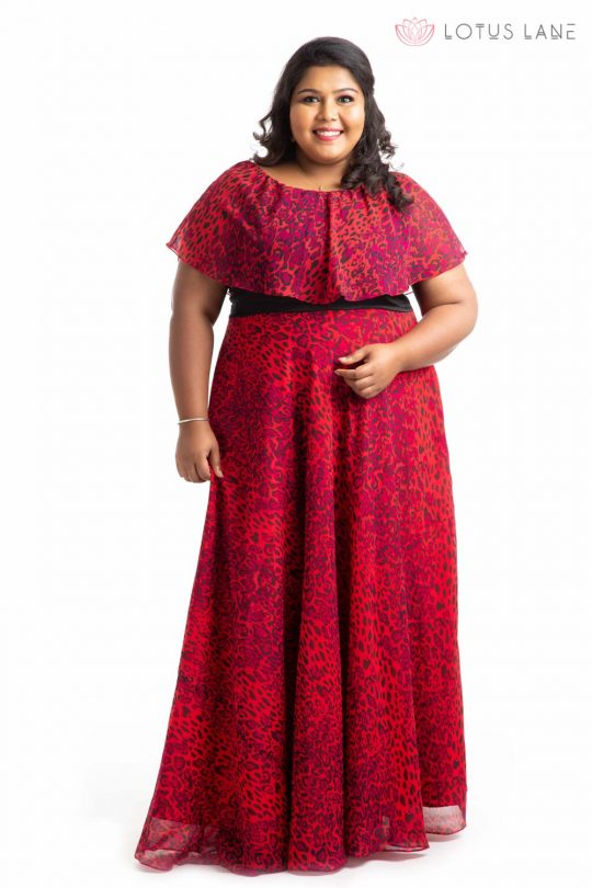Plus Size Dress -Red