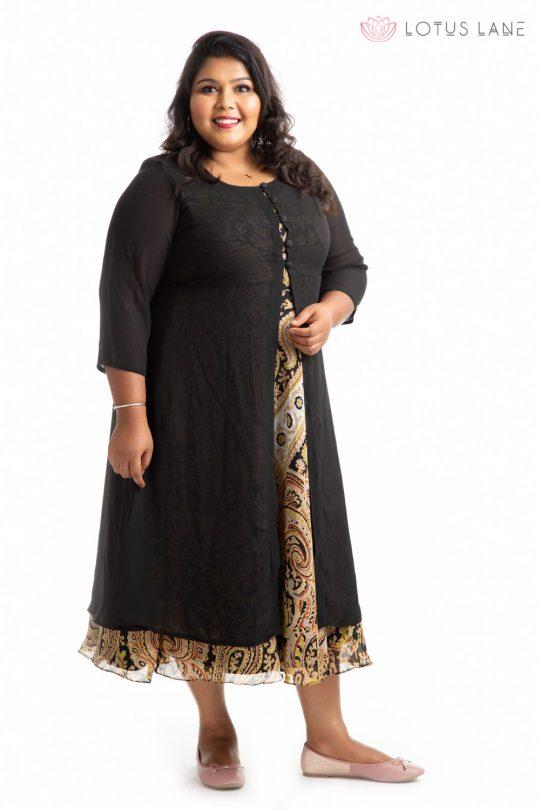 Plus Size Dress -Black