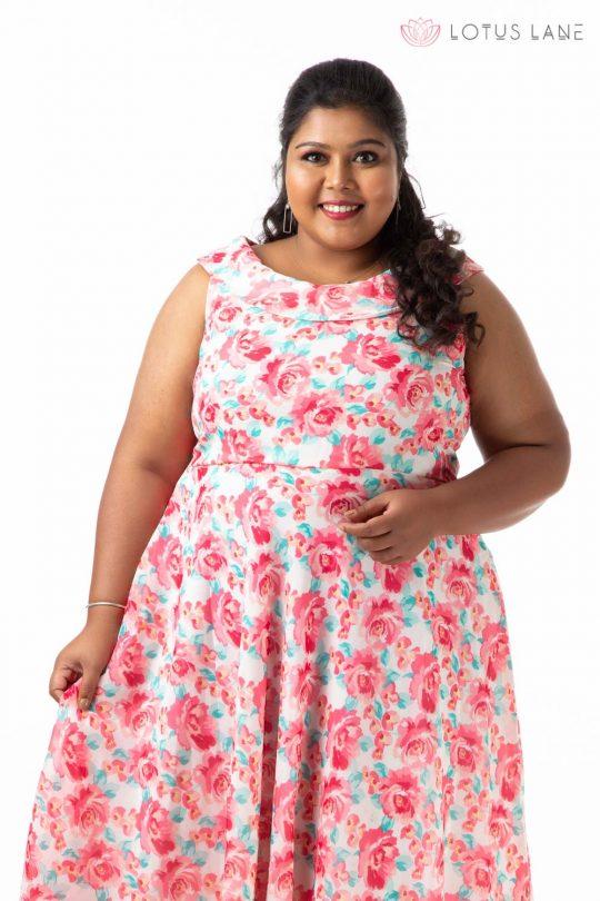 Plus Size Dress -Pink