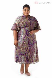 Give it Glamour Ruffle Neck Dress