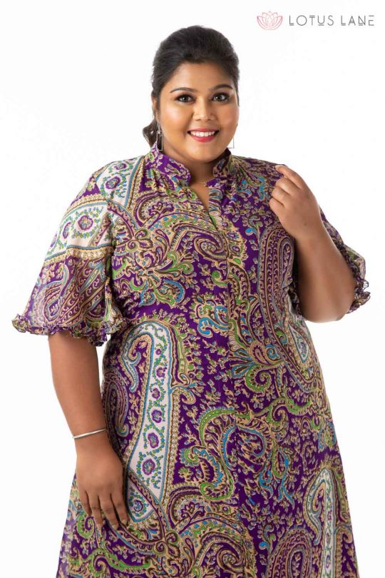 Plus Size Dress -Purple