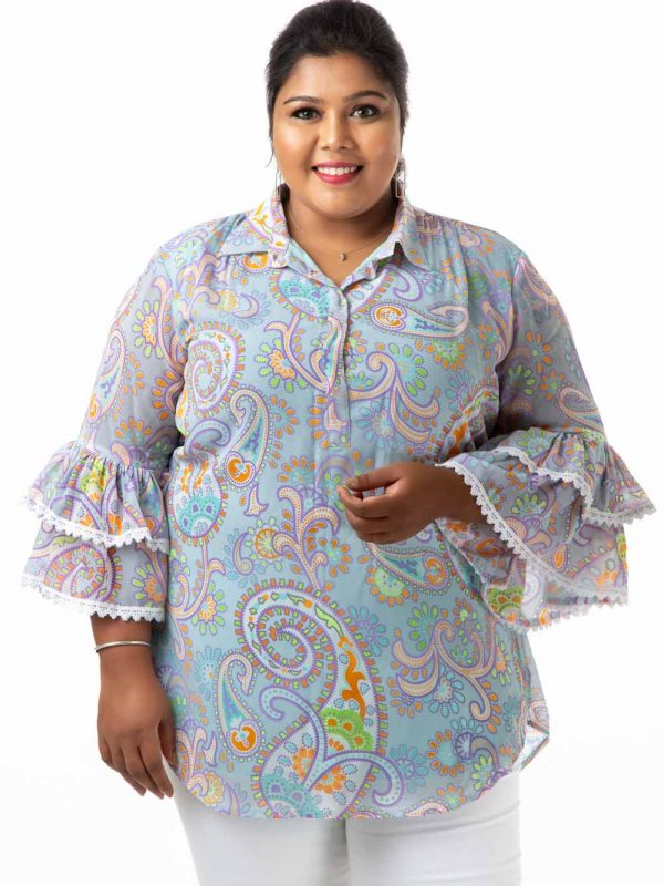 Plus Size Top - Light Blue