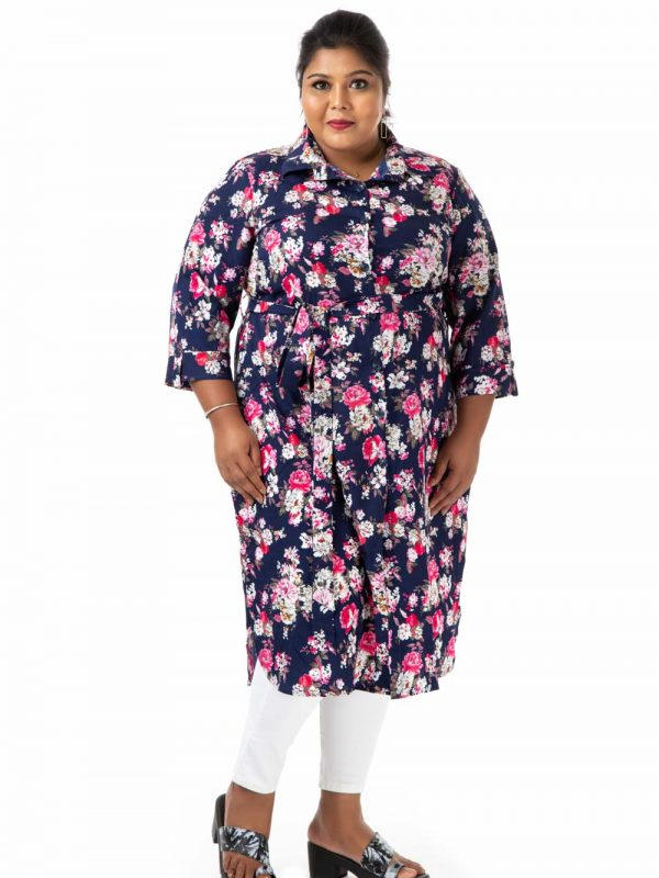 Plus Size Top - Blue