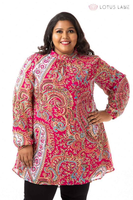 Plus Size Top -Pink