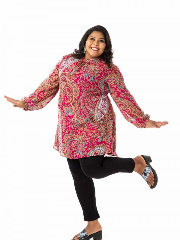 Plus size top - Pink