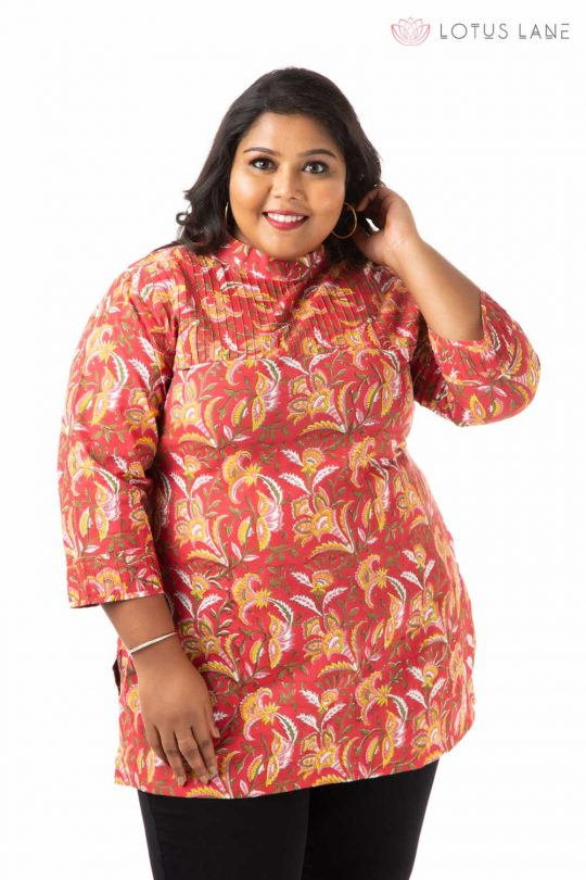 Plus Size Top -Red
